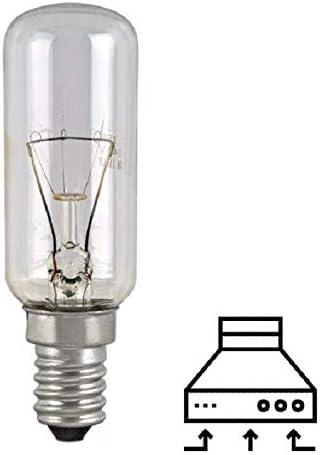 MED - Lámpara tubular incandescente transparente para campanas extractoras Canalizadas E14 40 W 220 V: Amazon.es: Hogar