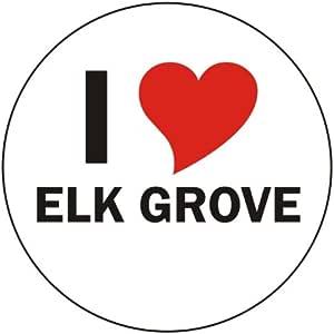 Amazon.com: INDIGOS UG - I Love Elk Grove Car Sticker