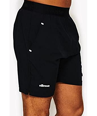 139dc20e1c9 ellesse Men Pants Short Bordin Grey S  Amazon.co.uk  Clothing