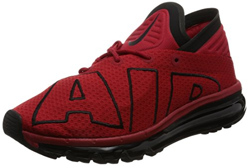 Nike Heren Air Max Flair Hardloopschoenen Gym Rood Wit 600