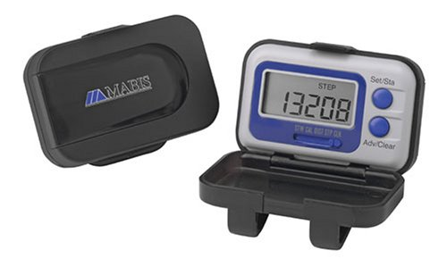 MABIS Mini Calorie Pedometer, Black