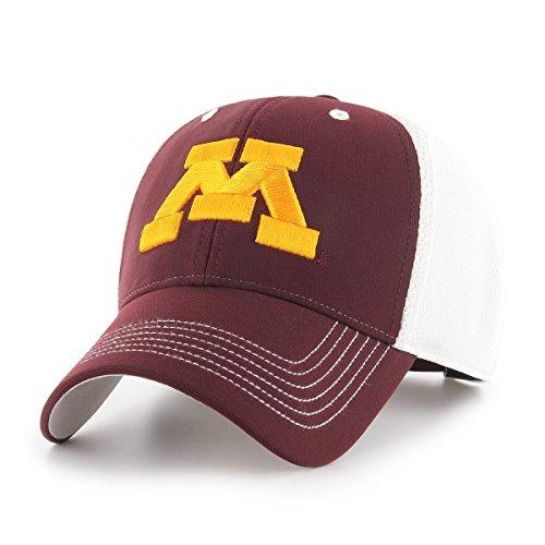 Minnesota Golden Gophers College Baseball - NCAA Minnesota Golden Gophers Sling OTS All-Star MVP Adjustable Hat, Dark Maroon, One Size