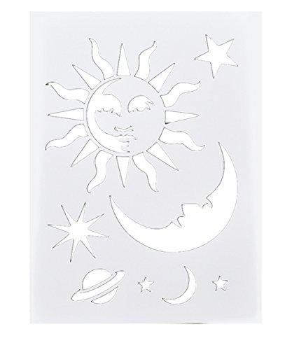 Laser Cut Spray Painted Masking Template DIY Album Drawing Masking Stencils 1Pc (Celestial Stencils)