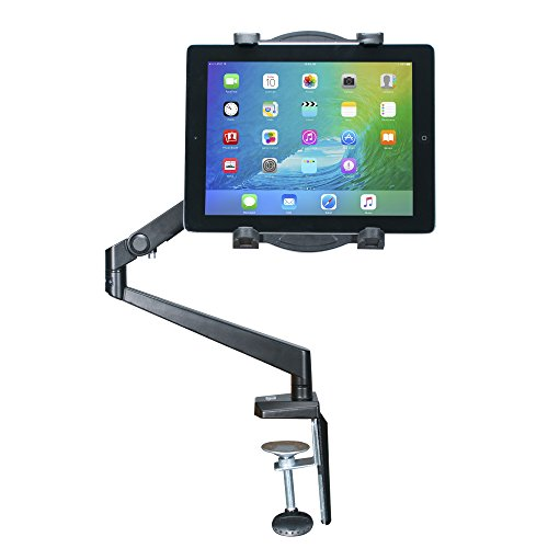 CTA Digital PAD-TAM Tabletop Arm Mount for 7-12-Inch Tablets, including 11-inch iPad Pro (2018), iPad Gen. 6 & 5 (7 Arm Pc)