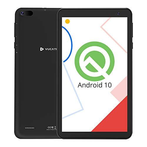VUCATIMES N7 7-Inch Tablet, Android 10.0, Wi-Fi, 16GB ROM, 1.8 GHz Quad-Core Processor, IPS HD Display, Bluetooth 4.2, Black