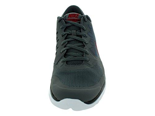 Nike Flex Experience RN 4 Laufschuh Dunkelgrau / Schwarz / Weiß / Gym Red