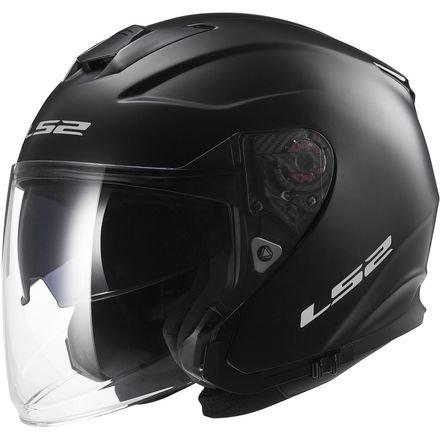 LS2 Helmets Infinity Solid Open Face Motorcycle Helmet with Sunshield (Matte Black, - Motorcycle Helmets Nolan