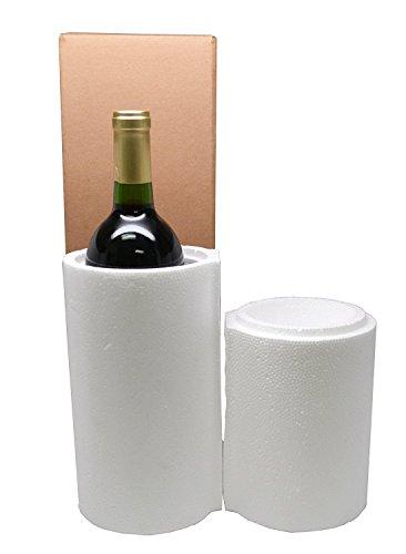 1 Bottle Styrofoam Wine Shipping Cooler - COOL-01 by Miller Supply Inc