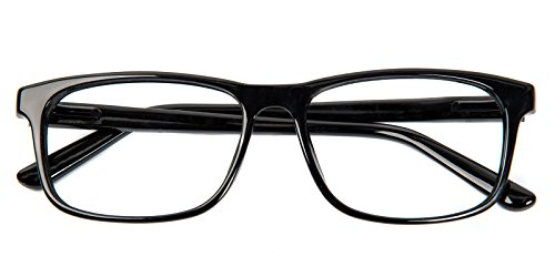 Glassesshop Retro Optical-Quality RX-Able Eyeglasses Rectangle Eyewear Frame-Black