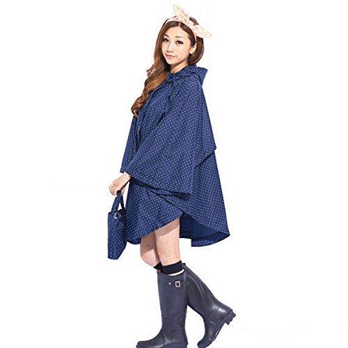 [Ezyoutdoor Portable Raincoat Rain Poncho Bicycle Bike Rain Coat Hooded Rainwear (random color)] (Pet Dalmatian Costumes)