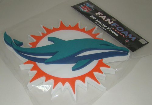 NFL Miami Dolphins 3D Foam Wall Sign