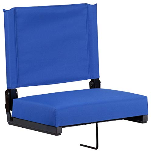 Blue Seat - Flash Furniture Game Day Seats Stadium Chair by Flash with Ultra-Padded Seat, Blue