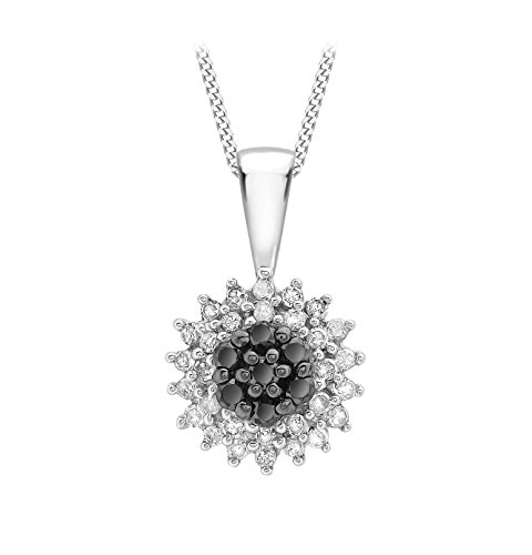 Carissima Gold - Collier - Femme - Or Blanc 375/1000 (9 Cts) 1.4 Gr - Diamant