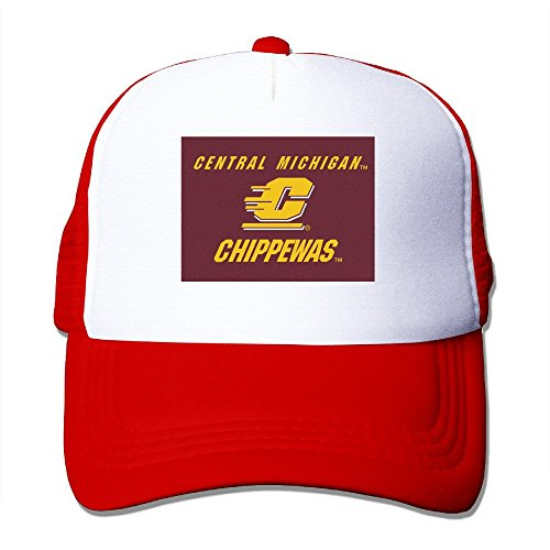 XSSYZ Central Michigan University Seal Trucker Hat Mesh Cap Red