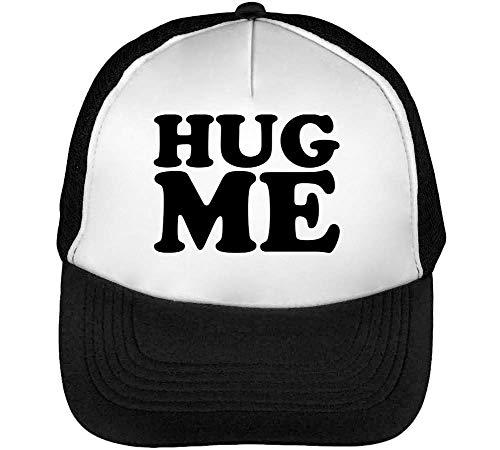 Snapback Blanco Hug Gorras Cute Hombre Slogan Negro Beisbol w46IgZq