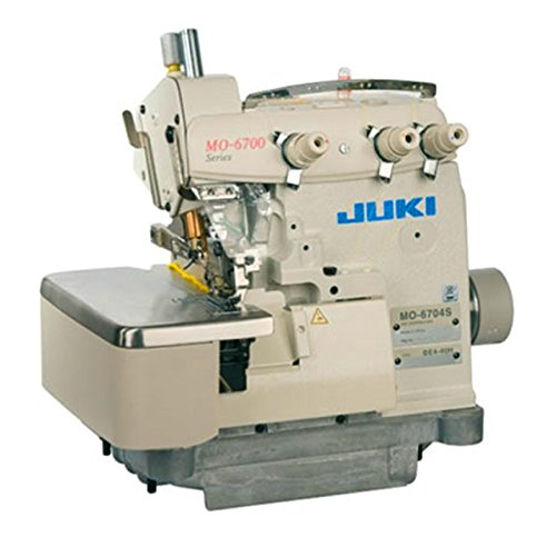 Juki MO-6704-150 Pearl 1.6mm Rolled Hem 3-Thread High-speed Overlock / Safety Stitch Industrial Serger Includes Table and Clutch Motor (Table Comes Assembled)