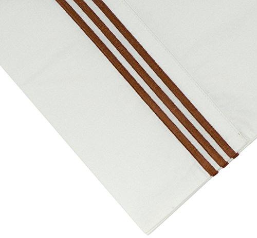 Cotton Sheet Set Emb - Pointehaven 300 Thread Count Egyptian Cotton Embroidered Pillowcase, King, Champagne