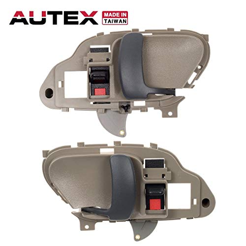 AUTEX 2pcs Interior Door Handles Front/Rear Left Right Driver Passenger Side Compatible with Chevy,GMC C/K 1500 2500 3500 Pickup Suburban,Chevy Tahoe,GMC Yukon 1995-2000 77570 7757