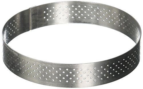 PERFORATED TART RING, Round, in Stainless Steel, 0.75-Inch high O 4-Inch