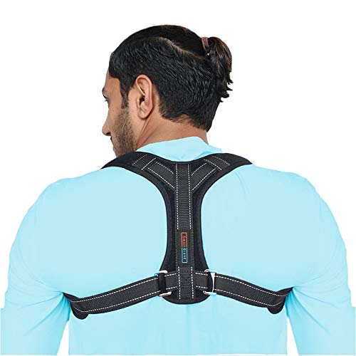 Posture Corrector Brace for Men & Women - Adjustable Upper Back Brace for Clavicle Support - Helps with Spine Alignment - Eliminates Slouching - Universal