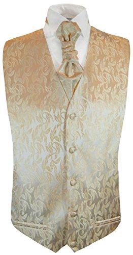 Paul Malone Cappucino Tuxedo Vest and Cravat (Tuxedo Brown)