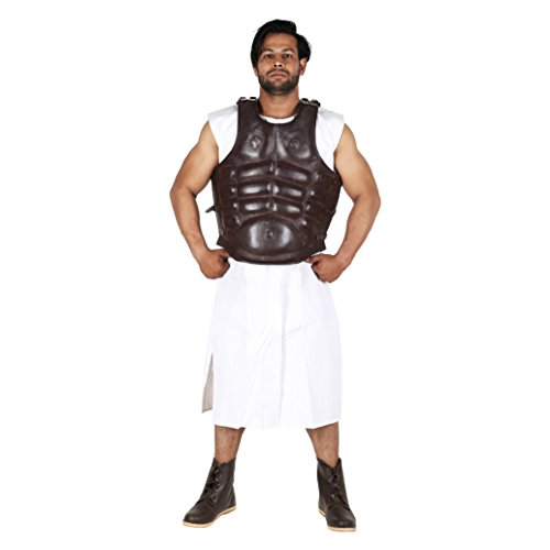 Roman Greek Leather Muscle Body Armor Cuirass reenactment Jacket Dark Brown by Medieval Edge