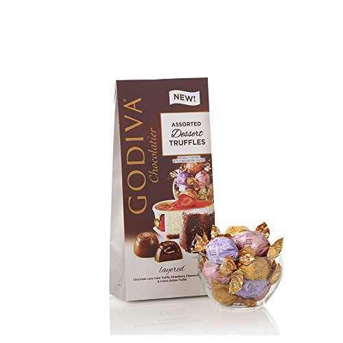 Godiva Chocolatier Assorted Chocolate Dessert Truffles, Assorted Chocolate Truffles, Chocolate Desserts, Great Gifting Assortment, 19 pc