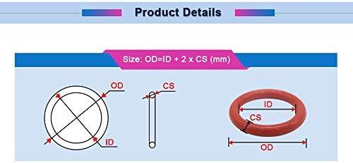 Taille : 80x70x5mm NJ-SPRING 10pcs CS 5 mm Rouge VMQ O Anneau Joint OD 80mm-150mm joint torique Joints Joint silicone O Bonne Elasticit/é Ringen Joint d/étanch/éit/é gromment