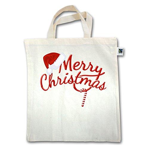Natale E Capodanno - Buon Natale Bastoncino Di Zucchero - Unisize - Naturale - Xt500 - Manico Corto In Juta
