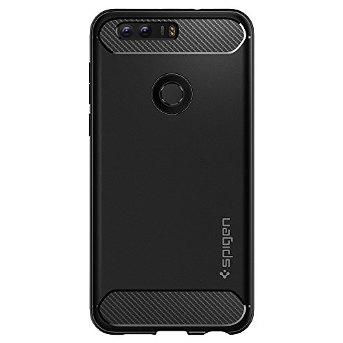 Spigen Rugged Armor Honor 8 Case with Resilient Shock Absorption for Huawei Honor 8 2016 - Black by Spigen (Image #5)