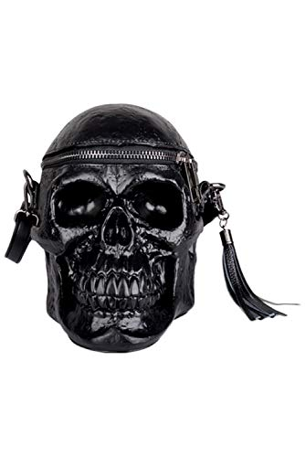 Hacos Funny Gothic Purse Punk Teapot Skull Shaped Handbag Crossbody Bag Fashion Shoulder Bags for Women (Skull) ()