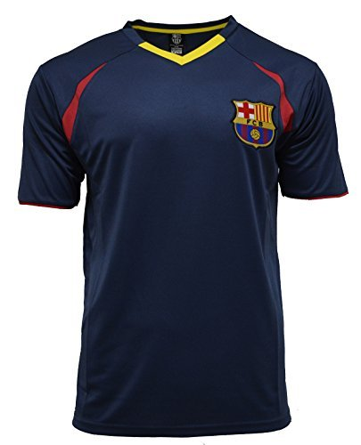 Team Training Shirts (Fc Barcelona Adult Training Jersey Performance Polyester -Shirts - Home -Away (BLUE T1E19,)