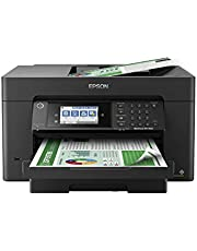 """$249 » Epson Workforce Pro WF-7820 Wireless All-in-One Wide-Format Printer with Auto 2-Sided Print up to 13"""" x 19"""", Copy, Scan and Fax, 50-Page ADF, 250-sheet Paper Capacity, 4.3"""" Screen, Works with Alexa"""