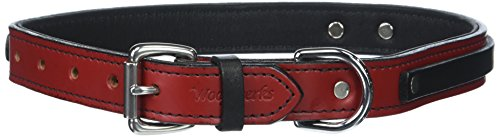 Woofwerks Tucker Overlay Collar, 24-Inch, Red/Black