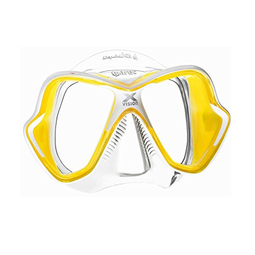 - Mares X-Vision Ultra Liquid Skin Dive Mask, Clear/Yellow