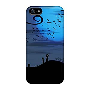 Excellent Design Bats Over Cemetery Halloween Phone Case For Iphone 5/5s Premium Tpu Case