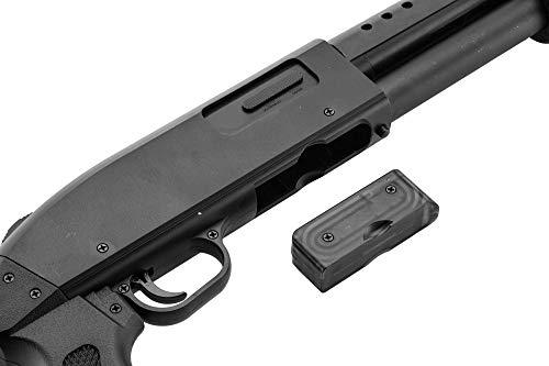 Pack complet Airsoft M500 Court/Fusil à Pompe à Ressort/métal-ABS/Rechargement Manuel (0.5 Joule)-Livré avec Accessoires 4