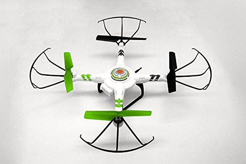 Quadrone Vision Quadcopter White/Green/Black AW-QDR-POV