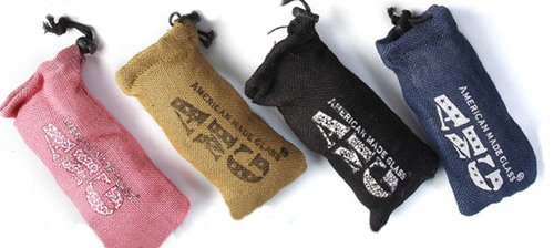 American Made Glass Padded Pipe Case Assorted Colors ()