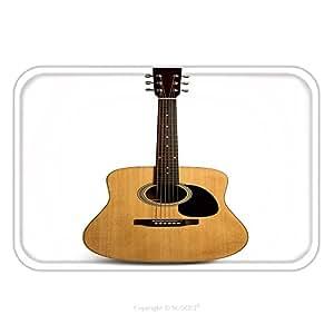 Franela de microfibra antideslizante suela de goma suave absorbente Felpudo alfombra alfombra alfombra guitarra acústica es aislados en el fondo blanco 306172058para interior/exterior/cuarto de baño/cocina/Estaciones de trabajo