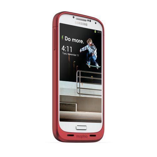 mophie juice pack for Samsung Galaxy S4 (2,300mAh) - Red (Juice Case Samsung S4 compare prices)