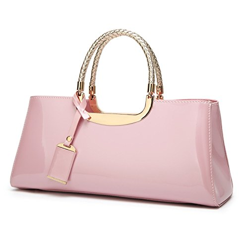 Pink Bridal Shoulder Leather Wild Diagonal Female Wlq Handbag Fashion Personality Patent Yyy Bag Wedding Atmospheric wPq6a1Wx