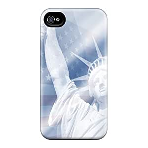 New Fashionable JGOke UNIoWCq2115FbnxM Cover Case Specially Made For Iphone 4/4s(statue Of Liberty)