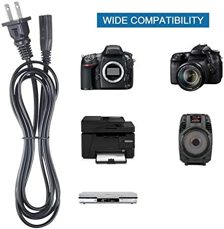 Omilik 6FT//1.8M UL Listed AC Power Cord Outlet Socket Cable Plug Lead for Panasonic Camcorder AC Adapter Battery Charger VW-AD20 VW-AD20-K VWAD20K HDC-SD5 HDC-SD1 SDR-H60 SDR-H40 SDR-H41 SDR-H200