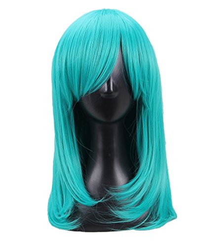 Women's Long Straight Royal Blue Cosplay Wig -
