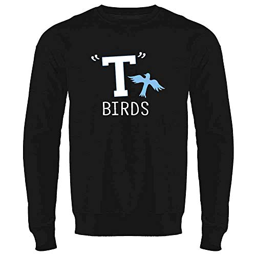 T Birds Gang Logo Costume Retro 50s 60s Costume Black L Mens Fleece Crew Sweatshirt]()