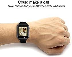 zleben Reloj Inteligente, con Bluetooth y Ranura para Tarjeta SIM ...