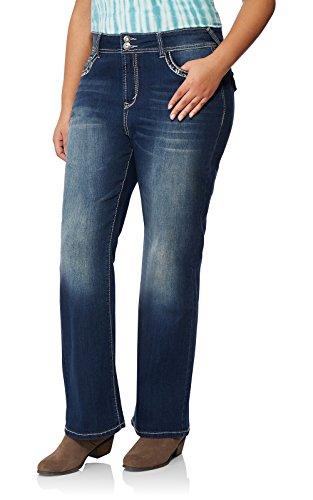 13ef976311 WallFlower Women's Plus-Size Embellished Pocket Luscious Curvy Bootcut Jeans