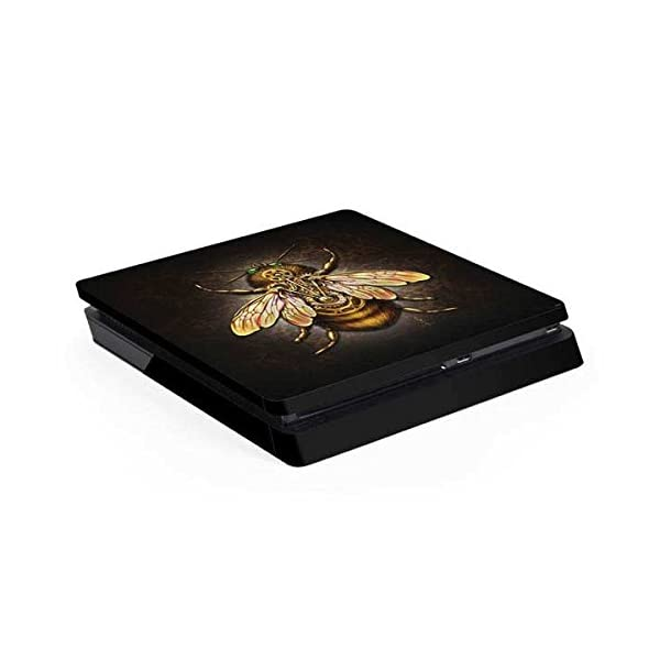Skinit Decal Gaming Skin Compatible with PS4 Slim - Officially Licensed Tate and Co. Steampunk Bee Design 3