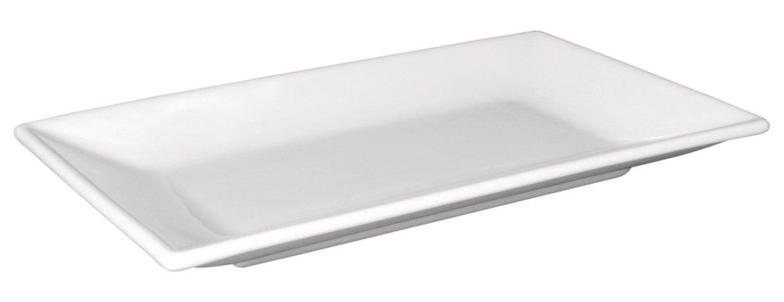Olympia Lot de 6 assiettes rectangulaires en porcelaine Blanc 200 x 130 mm